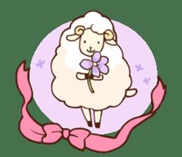 Marshmallow sheep sticker #4542818