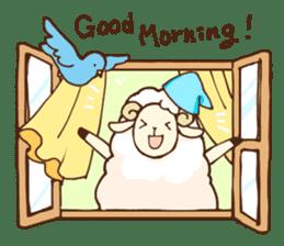 Marshmallow sheep sticker #4542820