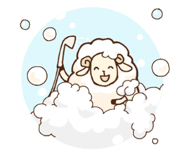 Marshmallow sheep sticker #4542822