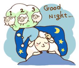 Marshmallow sheep sticker #4542823