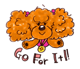Toy poodle of all sticker #4547487