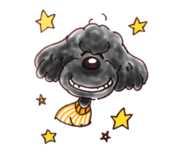 Toy poodle of all sticker #4547498