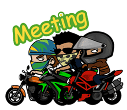 Biker King. (Eng) sticker #4549026