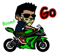 Biker King. (Eng) sticker #4549036