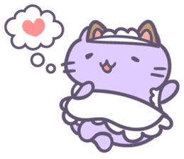 Maid Cat by Mitchiri Neko sticker #4552530