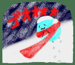 Night sky-Snow world sticker #4558657