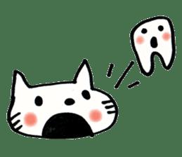 Dentist visits cat sticker #4559159