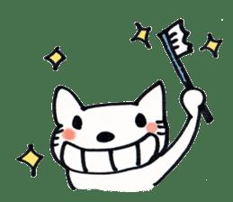 Dentist visits cat sticker #4559165