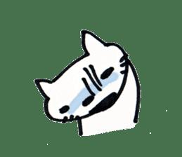 Dentist visits cat sticker #4559171