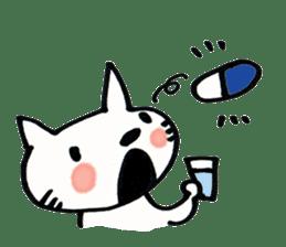 Dentist visits cat sticker #4559184