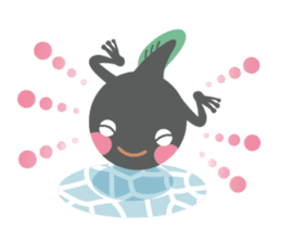 huubHR Frog and Tadpole sticker #4561714