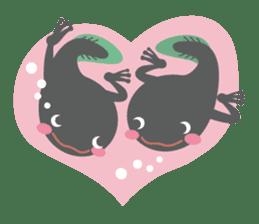 huubHR Frog and Tadpole sticker #4561720