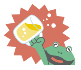 huubHR Frog and Tadpole sticker #4561721