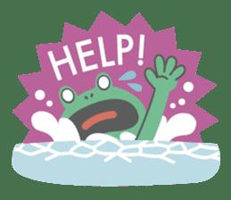 huubHR Frog and Tadpole sticker #4561724