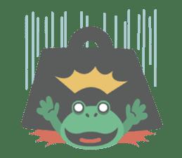 huubHR Frog and Tadpole sticker #4561725