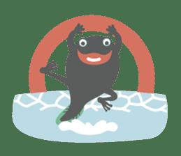 huubHR Frog and Tadpole sticker #4561726