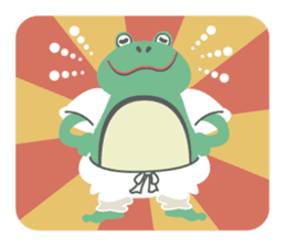 huubHR Frog and Tadpole sticker #4561731