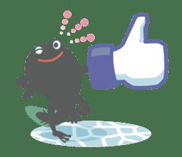 huubHR Frog and Tadpole sticker #4561732