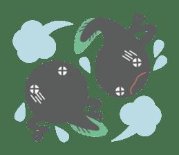huubHR Frog and Tadpole sticker #4561733