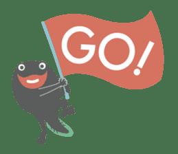 huubHR Frog and Tadpole sticker #4561740