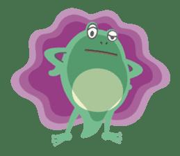 huubHR Frog and Tadpole sticker #4561743
