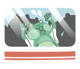 huubHR Frog and Tadpole sticker #4561746