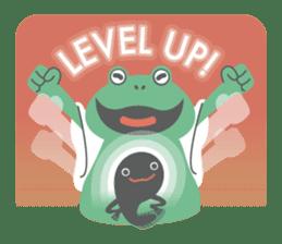 huubHR Frog and Tadpole sticker #4561748