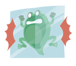 huubHR Frog and Tadpole sticker #4561750