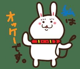 Happy cat and Rabbit sticker #4561914