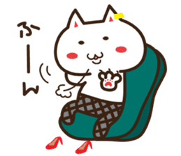 Happy cat and Rabbit sticker #4561922
