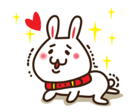 Happy cat and Rabbit sticker #4561929