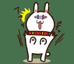 Happy cat and Rabbit sticker #4561931