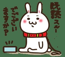 Happy cat and Rabbit sticker #4561933