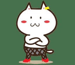 Happy cat and Rabbit sticker #4561941