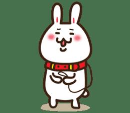 Happy cat and Rabbit sticker #4561942