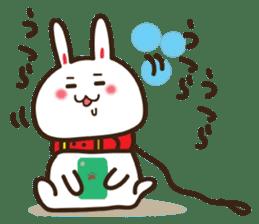 Happy cat and Rabbit sticker #4561944