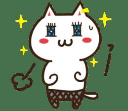 Happy cat and Rabbit sticker #4561950