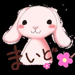 A lop-eared rabbit speaks the Kansaiben.
