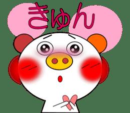 LOVE LOVE Pig 3 sticker #4562585