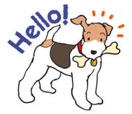 Feelings of Wire Fox Terrier sticker #4569793