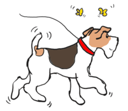 Feelings of Wire Fox Terrier sticker #4569797