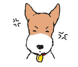 Feelings of Wire Fox Terrier sticker #4569810