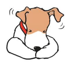 Feelings of Wire Fox Terrier sticker #4569816