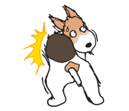 Feelings of Wire Fox Terrier sticker #4569820