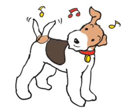 Feelings of Wire Fox Terrier sticker #4569827