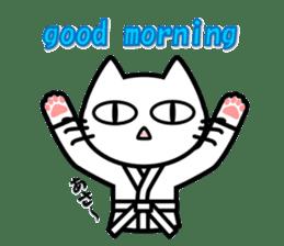 taekwon-do white cat and black cat sticker #4580313