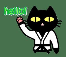 taekwon-do white cat and black cat sticker #4580314