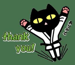 taekwon-do white cat and black cat sticker #4580315