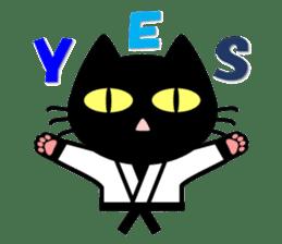 taekwon-do white cat and black cat sticker #4580316