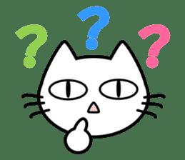 taekwon-do white cat and black cat sticker #4580319